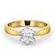 Certified 1.00CT Chloe High 18K Gold Engagement Ring E/VS1 - image 3