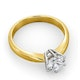 Certified 1.00CT Chloe High 18K Gold Engagement Ring E/VS1 - image 4