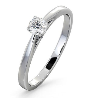 Engagement Ring Certified Petra 18K White Gold Diamond 0.25CT-G-H/SI