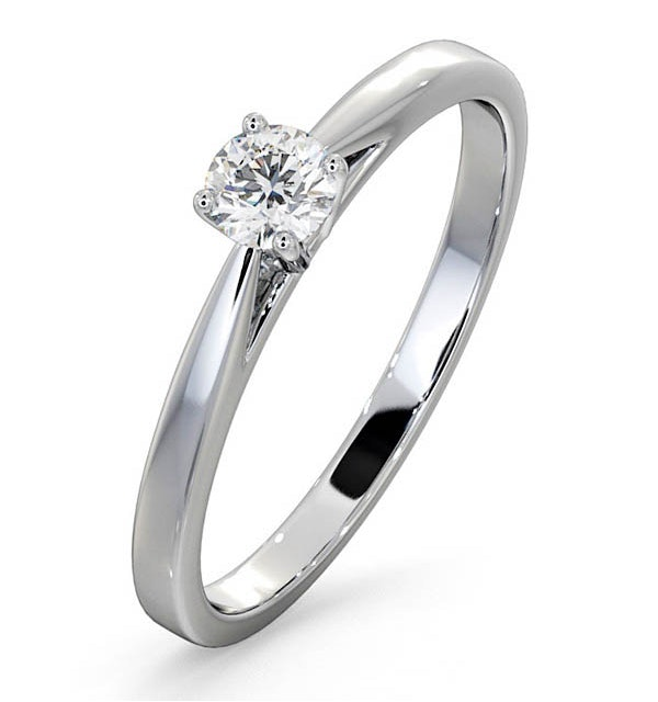 Engagement Ring Petra 0.25ct Lab Diamond G/Vs in 18K White Gold - image 1