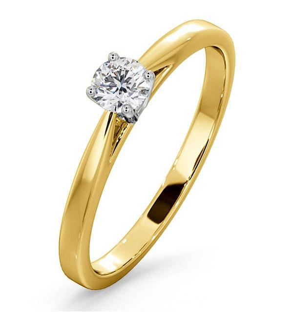Engagement Ring Certified Petra 18K Gold Diamond  0.25CT - image 1