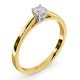 Engagement Ring Certified Petra 18K Gold Diamond  0.25CT-F-G/VS - image 2