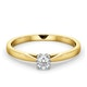 Engagement Ring Certified Petra 18K Gold Diamond  0.25CT-F-G/VS - image 3