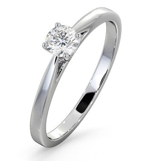 Engagement Ring Certified Petra 18K White Gold Diamond  0.33CT-G-H/SI