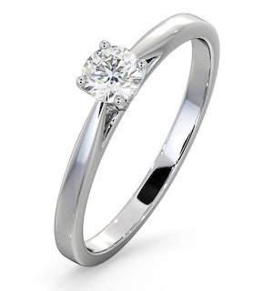 Engagement Ring Certified Petra 18K White Gold Diamond  0.33CT-F-G/VS