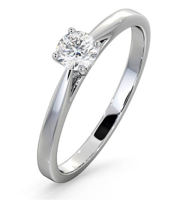 Engagement Ring Certified Petra 18K White Gold Diamond  0.33CT-G-H/SI - image 1