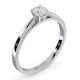 Engagement Ring Certified Petra 18K White Gold Diamond  0.33CT-G-H/SI - image 2