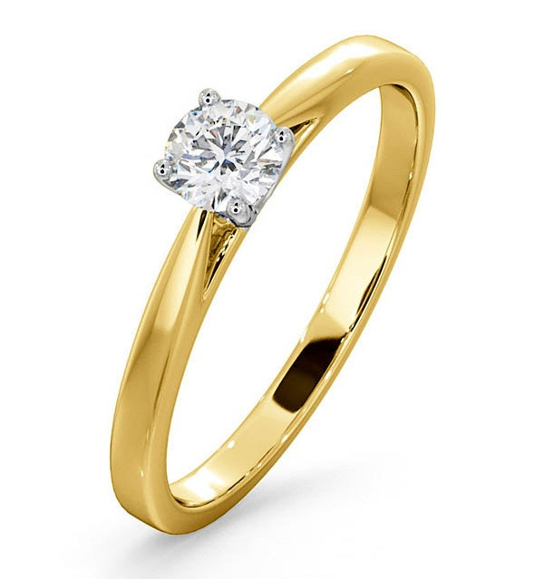 Engagement Ring Certified Petra 18K Gold Diamond  0.33CT - image 1