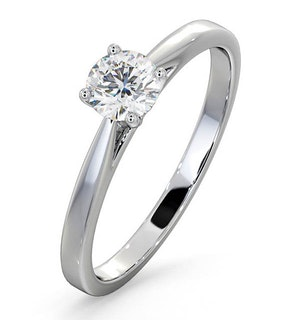 Engagement Ring Certified 0.50CT Petra 18K White Gold G/SI1