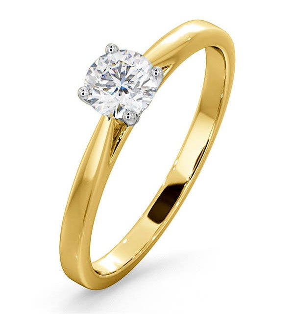 Engagement Ring Certified 0.50CT Petra 18K Gold  G/SI2 - image 1