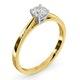 Engagement Ring Certified Petra 18K Gold Diamond  0.50CT - image 2