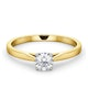 Engagement Ring Certified 0.50CT Petra 18K Gold  G/SI2 - image 3