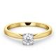 Engagement Ring Certified Petra 18K Gold Diamond  0.50CT - image 3