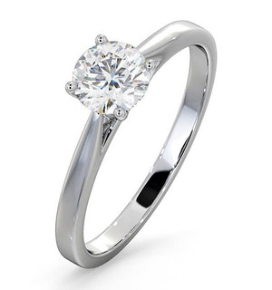 Engagement Ring Certified 0.70CT Petra 18K White Gold G/SI1