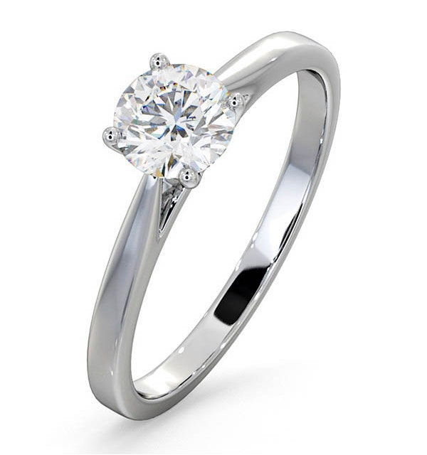 Engagement Ring Certified 0.70CT Petra 18K White Gold G/SI2 - image 1