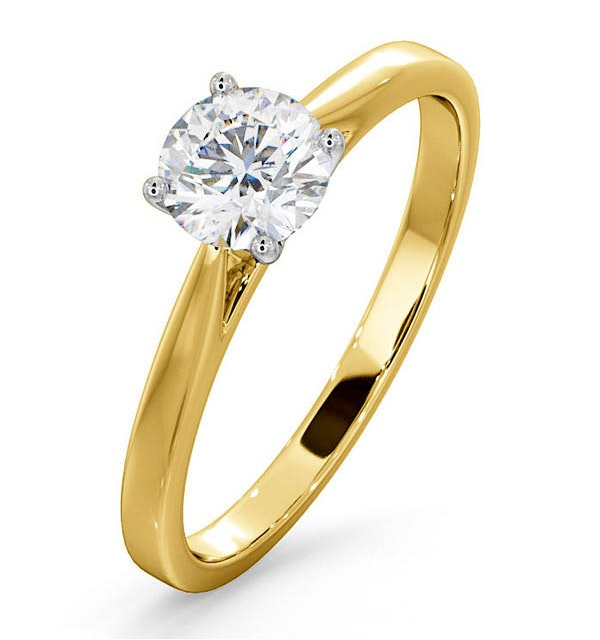 Engagement Ring Certified 0.70CT Petra 18K Gold  E/VS1 - image 1