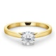 Engagement Ring Certified 0.70CT Petra 18K Gold  G/SI1 - image 3