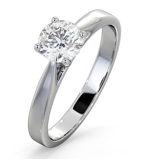 Engagement Ring Certified 0.90CT Petra Platinum E/VS2
