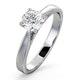 Engagement Ring Certified 0.90CT Petra Platinum G/SI2 - image 1