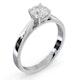 Engagement Ring Certified 0.90CT Petra Platinum G/SI2 - image 2
