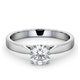 Engagement Ring Certified 0.90CT Petra Platinum  G/SI1 - image 3