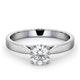 Engagement Ring Certified 0.90CT Petra Platinum G/SI2 - image 3