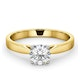 Engagement Ring Certified 0.90CT Petra 18K Gold  G/SI2 - image 3