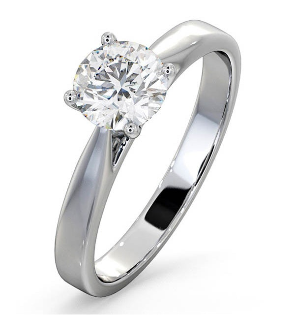 1 Carat Diamond Engagement Ring Petra Lab H/SI1 IGI Certified Platinum - image 1
