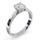 Engagement Ring Certified 1.00CT Petra Platinum E/VS1 - image 2