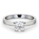 Engagement Ring Certified 1.00CT Petra Platinum E/VS1 - image 3