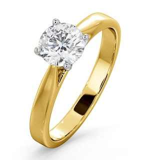 Engagement Ring Certified 1.00CT Petra 18K Gold  G/SI1