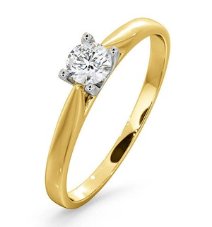 Engagement Ring Grace 0.25ct Lab Diamond G/Vs in 18K Gold