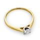 Certified Grace 18K Gold Diamond Engagement Ring 0.25CT - image 4
