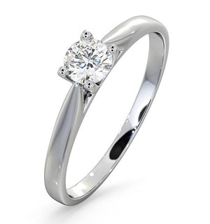 Certified Grace Platinum Diamond Engagement Ring 0.33CT G/VS