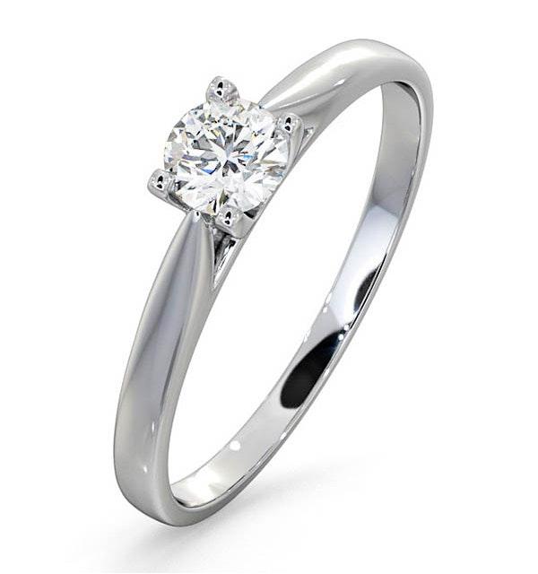 Certified Grace 18K White Gold Diamond Engagement Ring 0.33CT - image 1