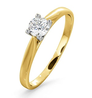 Certified Grace 18K Gold Diamond Engagement Ring 0.33CT