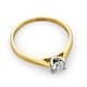 Certified Grace 18K Gold Diamond Engagement Ring 0.33CT - image 4