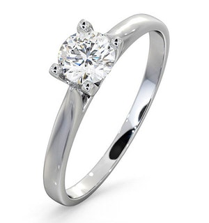 Certified 0.50CT Grace 18K White Gold Engagement Ring E/VS1