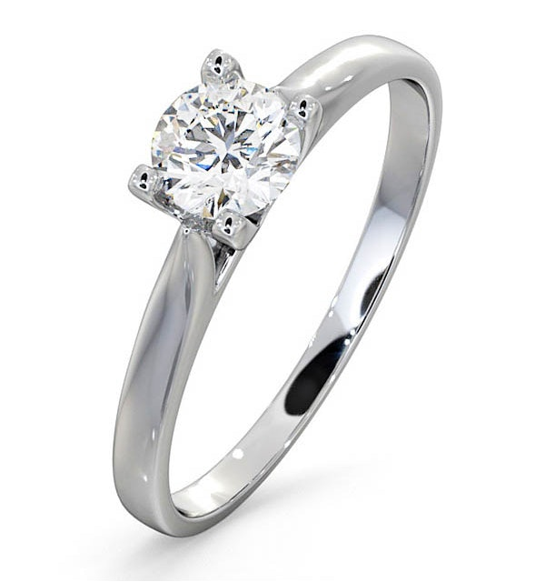 Platinum Half Carat Diamond Engagement Ring Grace Lab F/VS1 - image 1