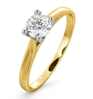 Certified 0.50CT Grace 18K Gold Engagement Ring G/SI1