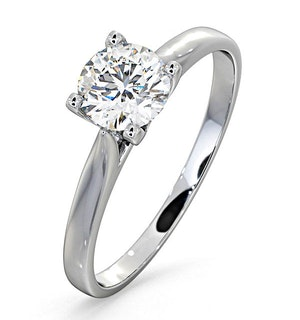 Certified 0.70CT Grace 18K White Gold Engagement Ring E/VS1