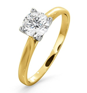 Certified 0.70CT Grace 18K Gold Engagement Ring G/SI1