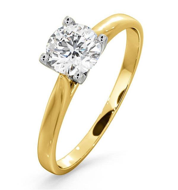 Certified 0.70CT Grace 18K Gold Engagement Ring E/VS2 - image 1