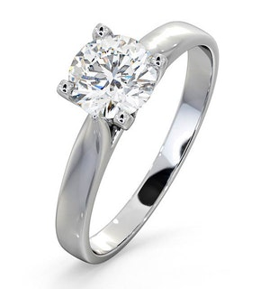 Certified 0.90CT Grace Platinum Engagement Ring E/VS2