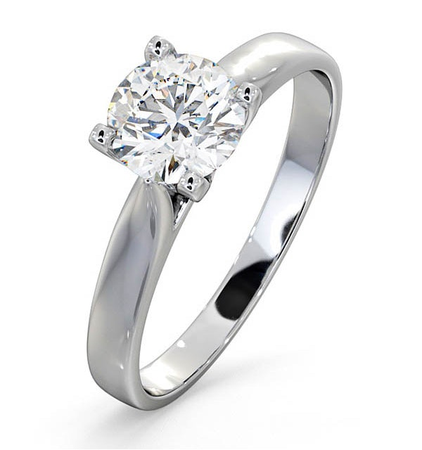 Certified 0.90CT Grace 18K White Gold Engagement Ring G/SI2 - image 1