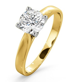 Certified 0.90CT Grace 18K Gold Engagement Ring E/VS2