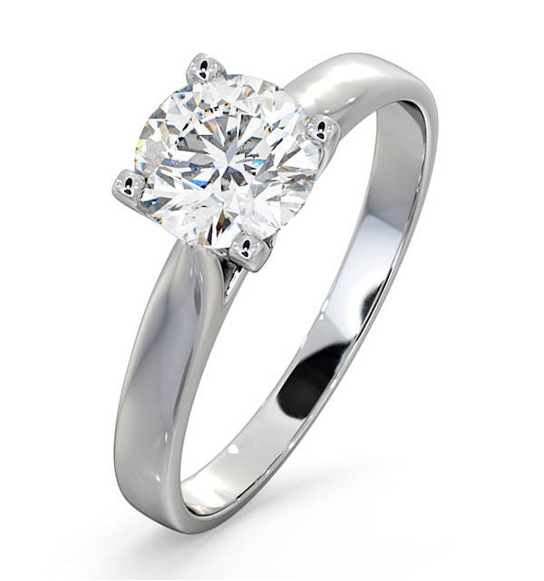 Certified 1.00CT Grace Platinum Engagement Ring E/VS1 - image 1