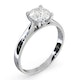 Certified 1.00CT Grace Platinum Engagement Ring E/VS1 - image 2
