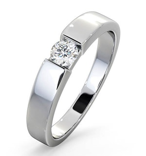 Certified Jessica 18K White Gold Diamond Engagement Ring 0.25CT-G-H/SI