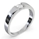 Certified Jessica 18K White Gold Diamond Engagement Ring 0.25CT - image 2